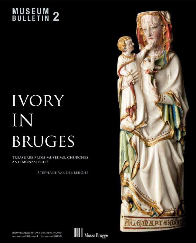 Cover van de cataloog Ivory in Bruges - door grafisch ontwerpbureau Agates in Brugge