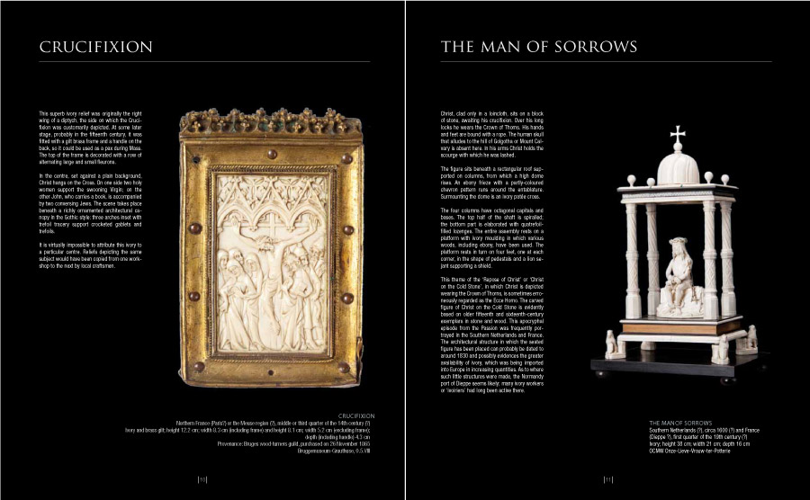 Cover van de cataloog Ivory in Bruges - door grafisch ontwerper Agates in Brugge
