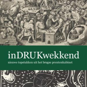 Cover van de cataloog inDRUKwekkend Musea Brugge - grafisch ontwerp door Agates te Brugge