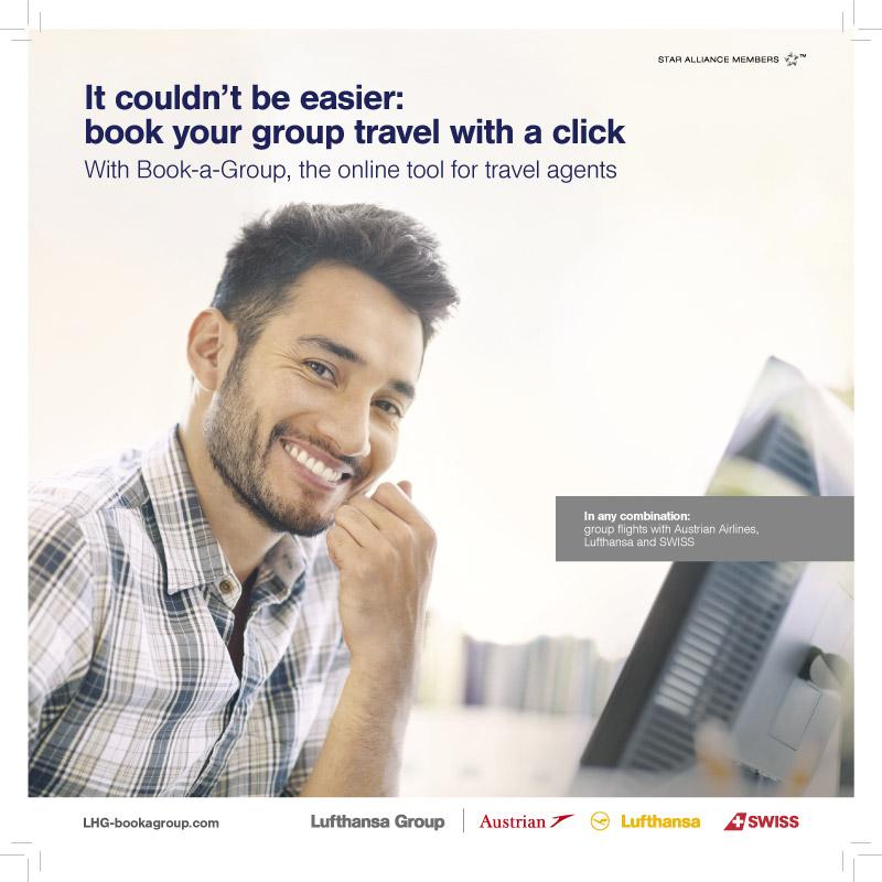 Een reclamebrochure voor de Lufthansa Group