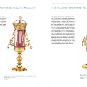 Binnenbladzijde van extra editie Museumbulletin, de zilverschat van het museum OLV Ter Potterie - door grafisch ontwerpbureau Agates in Brugge