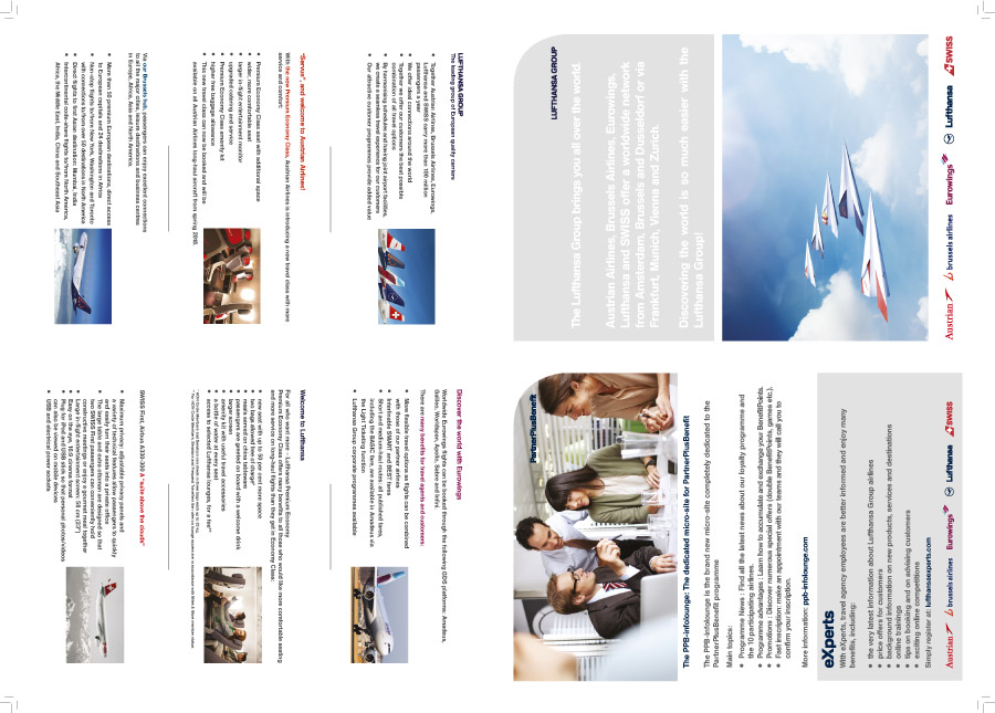 Folder met informatie over de Lufthansa Group