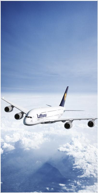 Een roll up banner voor Lufthansa
